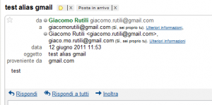 gmail consegna email alias account