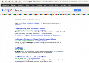Google serp christmas