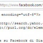 url feed rss notifiche facebook
